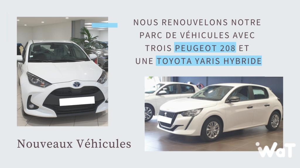 Actualités WAT : Nouveaux véhicules d'entreprise
